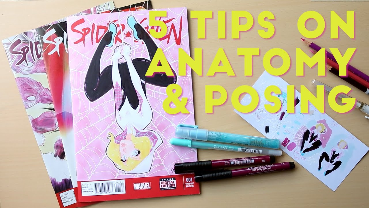 5 Tips on Anatomy and Posing: Spider Gwen Process Video - YouTube