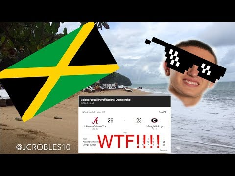 Private Beach In Jamaica!! THEY DIDN'T BROADCAST THE NATIONAL CHAMPIONSHIP!!! WTF