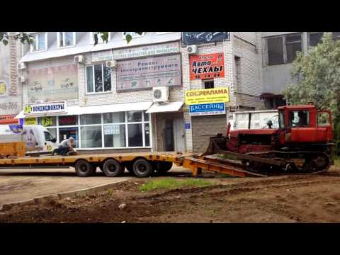 Перевозка трактора ДТ-75 бульдозер
