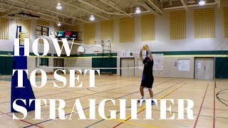 volleyball tip of the week 13 how to set straighter