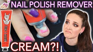 Nail Polish Remover CREAM?! *not toothpaste*