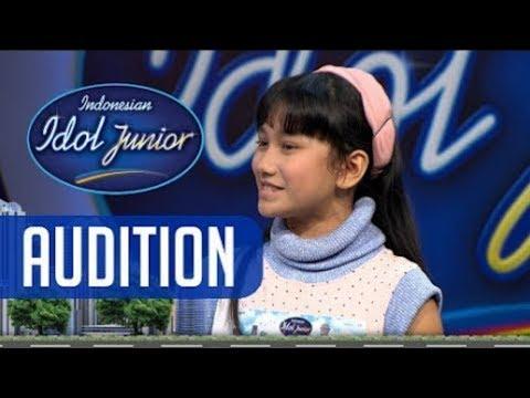 Marsha sukses membawakan lagu Marion Jola - AUDITION 1 - Indonesian Idol Junior 2018