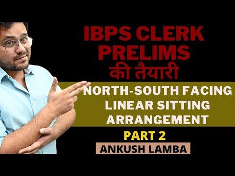 NORTH SOUTH FACING ARRANGEMENT || IBPS CLERK PRELIMS की तैयारी  || [ PART - 2 ]