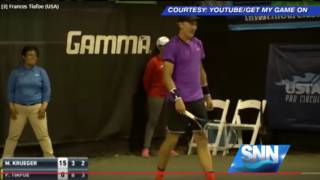 SNN:Love Making Interrupts Sarasota Open Tennis Match