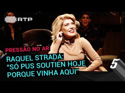 Raquel Strada: 'Só pus soutien hoje porque vinha aqui' | 5 Para a Meia-Noite | RTP