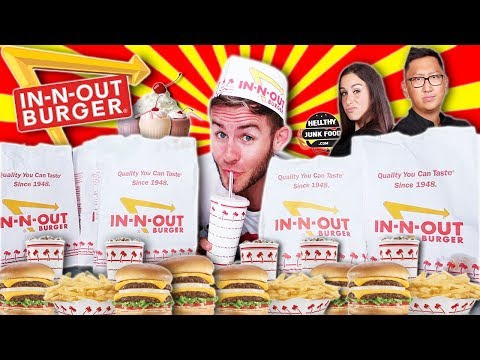 THE ENTIRE IN-N-OUT MENU CHALLENGE! (FT. HELLTHYJUNKFOOD )