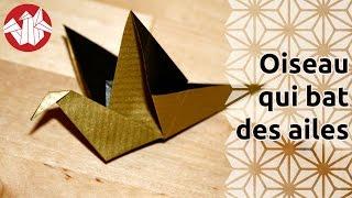 Origami - Oiseau qui bat des ailes - Flapping bird [Senbazuru]