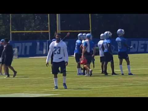 Detroit lions trying camp with the family