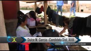 RECORRIDO DULCE MARIA GARCIA EN  MENDOZA MERCADO MORELOS