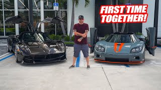 THE NEW PAGANI HUAYRA & KOENIGSEGG CCX TOGETHER! *HYPERCARS UNITE!*