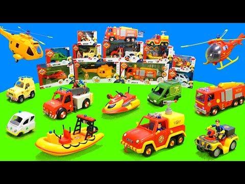 Feuerwehrmann Sam: Alle Feuerwehrautos der Pontypandy Feuerwehr | Spielzeug Unboxing Kinderfilm