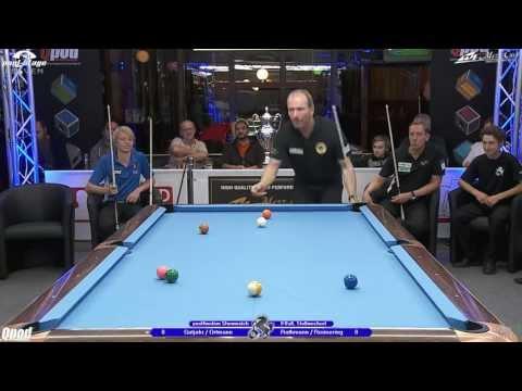 Stuttgart Open 2013, 24 Showmatch Ortmann-Gutjahr vs Reimering-Rathmann, Pool-Billard, Cue Sports