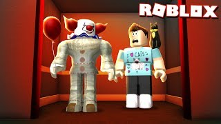 "TRAPPED WITH THE ""IT"" CLOWN IN AN ELEVATOR IN ROBLOX!"