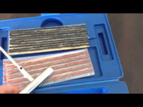 Tubeless tyre plug repair kit.