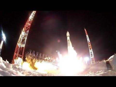 """Минобороны опубликовало видео запуска ракеты-носителя """"Союз"""""""