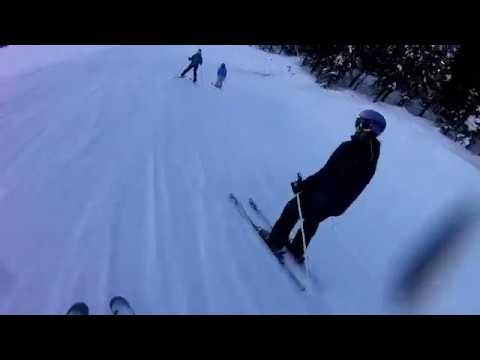 Skiing on the mountins #1! Skies are broken!  Must Watch!