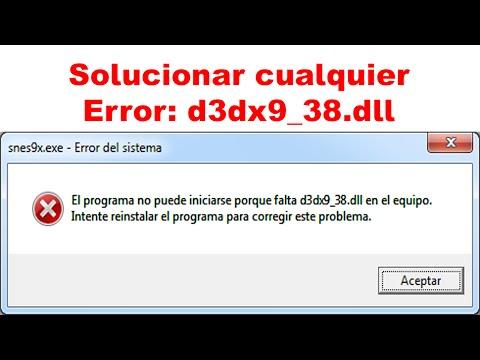 D3dx9_38 dll is missing snes9x   Snes9x_1 54 1(64 bit) Problem