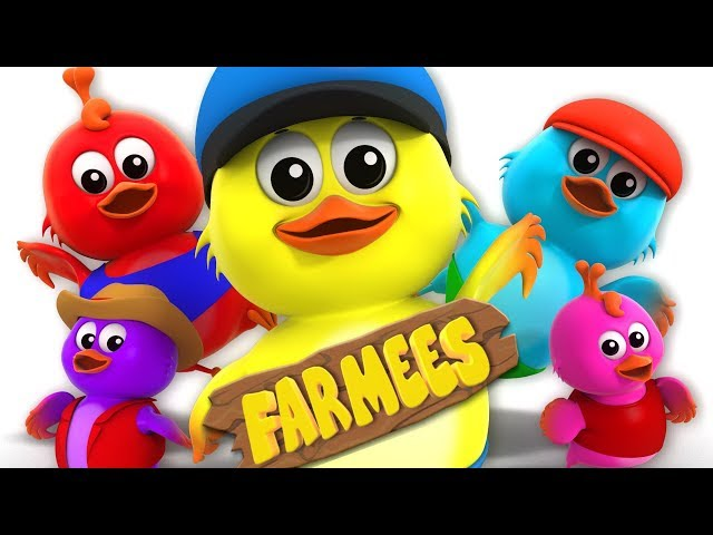 Five Little Chicks | Nursery Rhymes For Children | Cartoons by Farmees