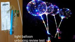 Light balloon unboxing review test Bobo balloon