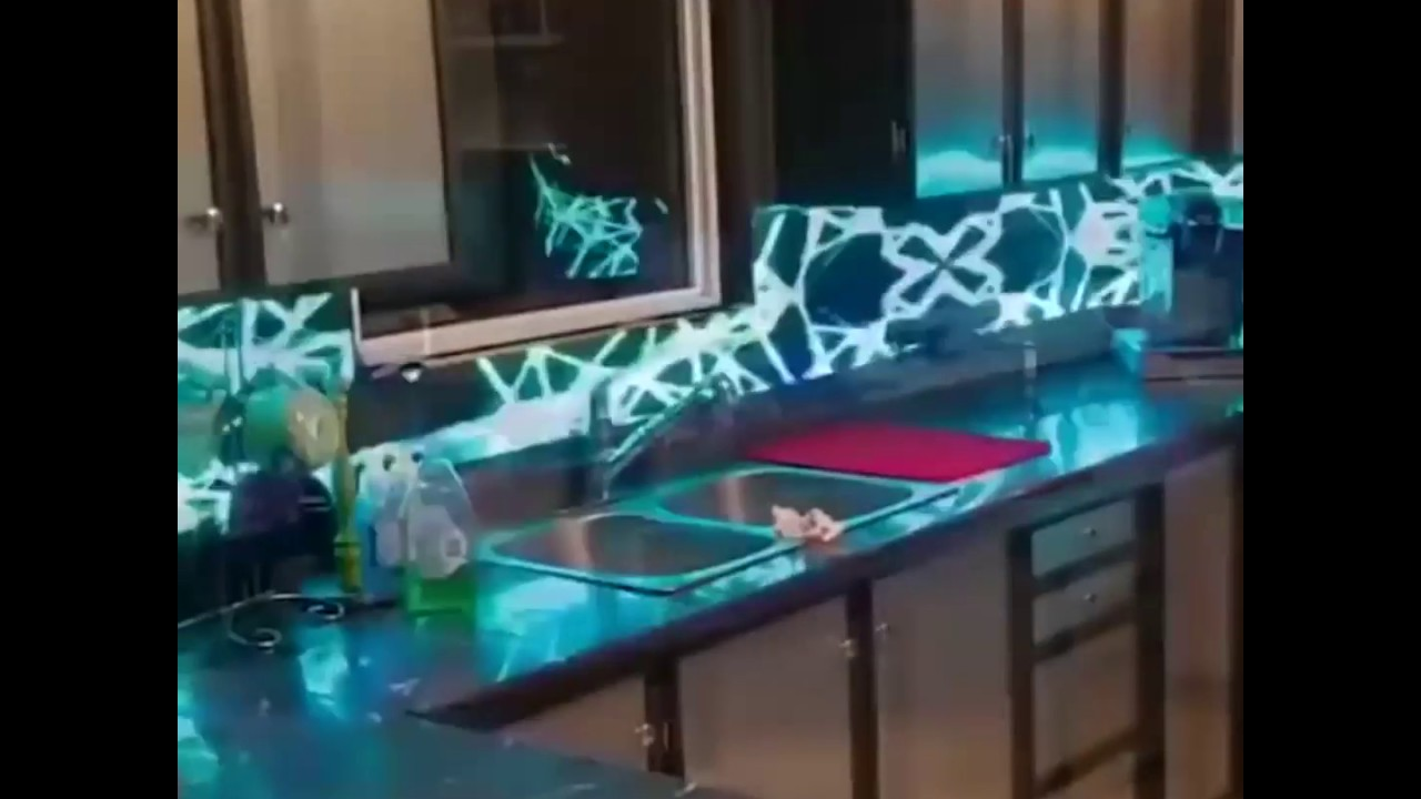 - 3D LED Kitchen Backsplash - YouTube