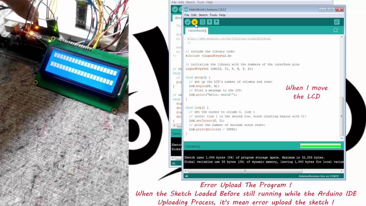 Wireless upload arduino uno sketch via bluetooth hc