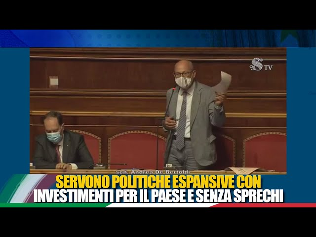 Il Sen. Bertoldi in dichiarazione di voto sul rendiconto generale dell'Amministrazione dello Stato