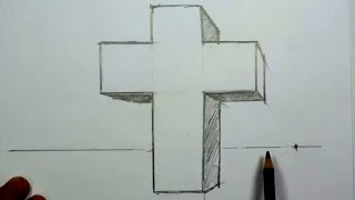 How to Draw a 3D Cross in One-Point Perspective | MAT