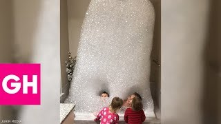 Kids Have the Craziest Bubble Bath of All Time | GH