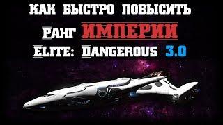 Как быстро повысить ранг Империи в Elite: Dangerous 3.0