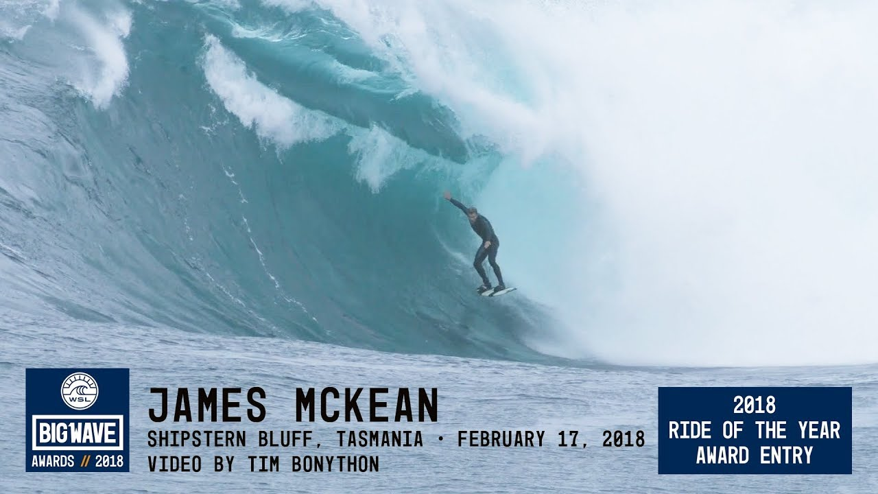 Download James McKean at Shipstern Bluff  - 2018 Ride of the Year Award Entry - WSL Big Wave Awards