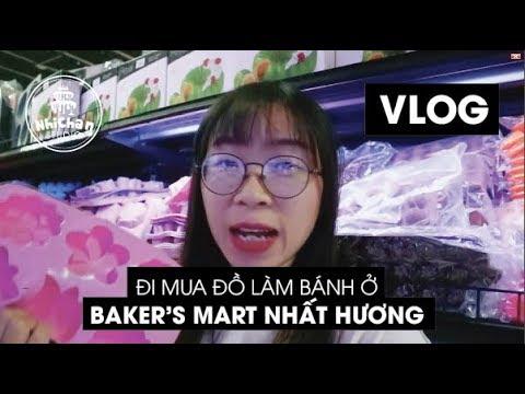 Đi mua đồ làm bánh ngọt ở Baker's Mart Nhất Hương | Vlog | Nhi Chan