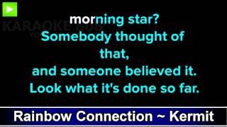 Rainbow Connection ~ Kermit the Frog The Muppets Karaoke Version ~ Karaoke 808