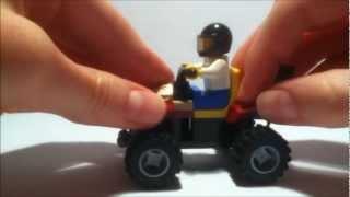 How to build a small Lego four-wheeler