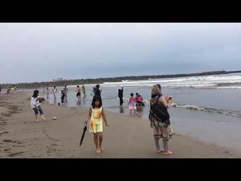 Pacific Ocean beach at Fukushima in japan