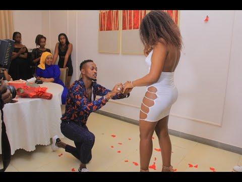 Rwandan Striker Issa Bigirimana proposes his girlfriend in controversial dress