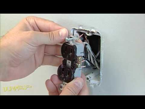 how to replace a standard electrical outlet for dummies youtube rh youtube com Electrical Wiring For Dummies Electrical Switch Wiring