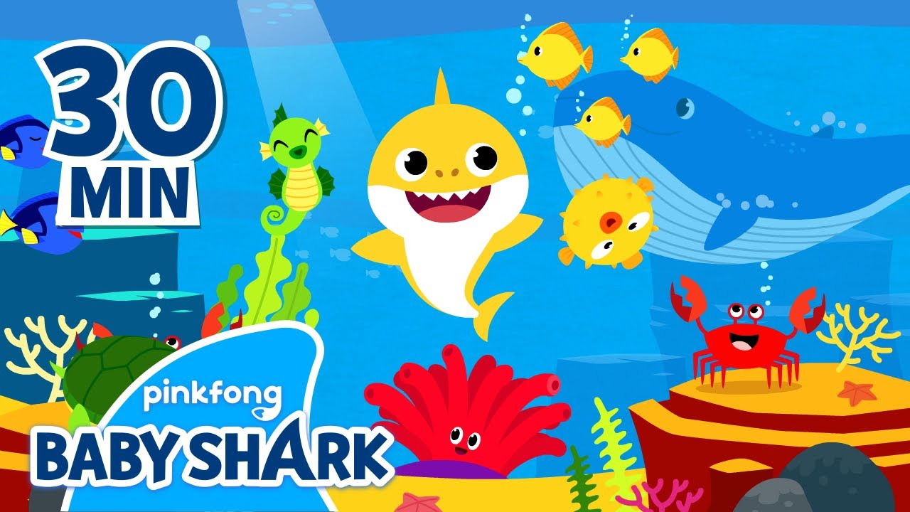 Baby Shark Coloring Fun and more | +Compilation | Homeschooling with Baby Shark