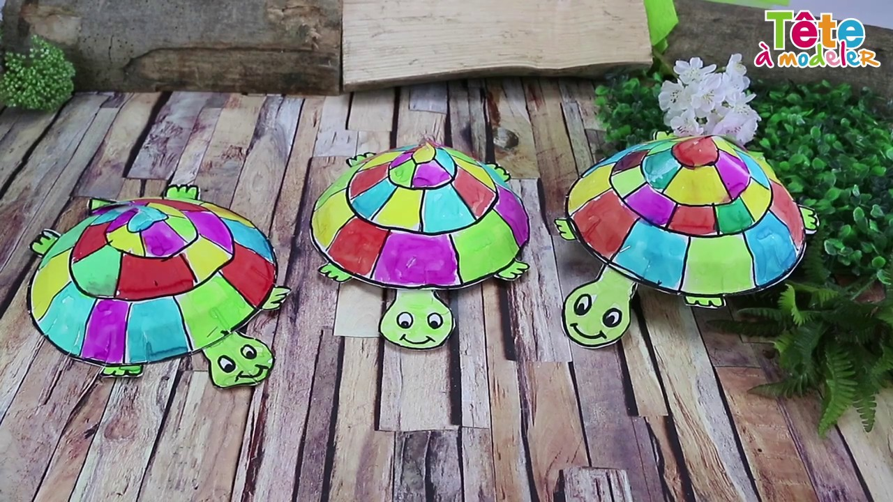 TUTO] La tortue en papier - Une vidéo by Tête à modeler - YouTube