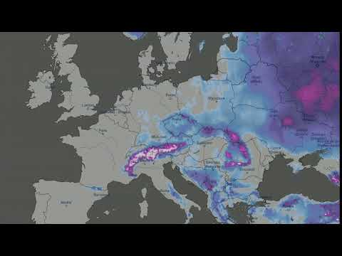 Snow Cover Map Europe.Snow Cover Europe 2019 Youtube