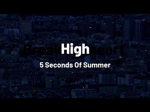 ❝ 5sos – high ❞ (lyrics).