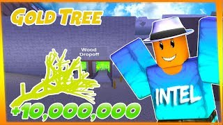 How Much Money is The GOLDEN End Times Tree Worth | ROBLOX Lumber Tycoon 3