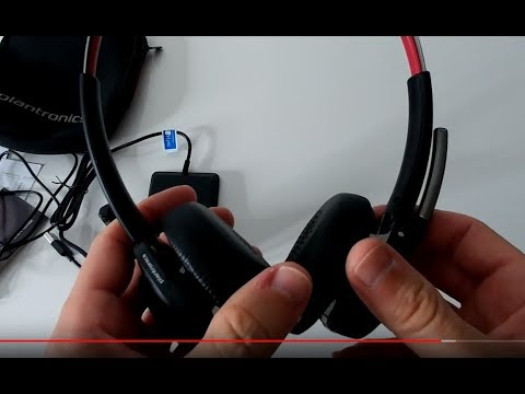 Plantronics B825m Voyager Focus Uc 20265202 Unboxing And Review With Sound Recording Sample Youtube