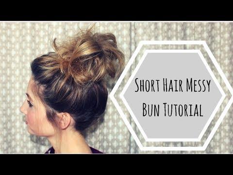 Short Hair Messy Bun Tutorial thumbnail