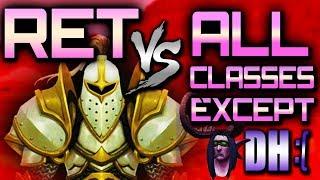 BFA Duels: Ret Paladin Duels vs All Classes (WoW BFA PvP)