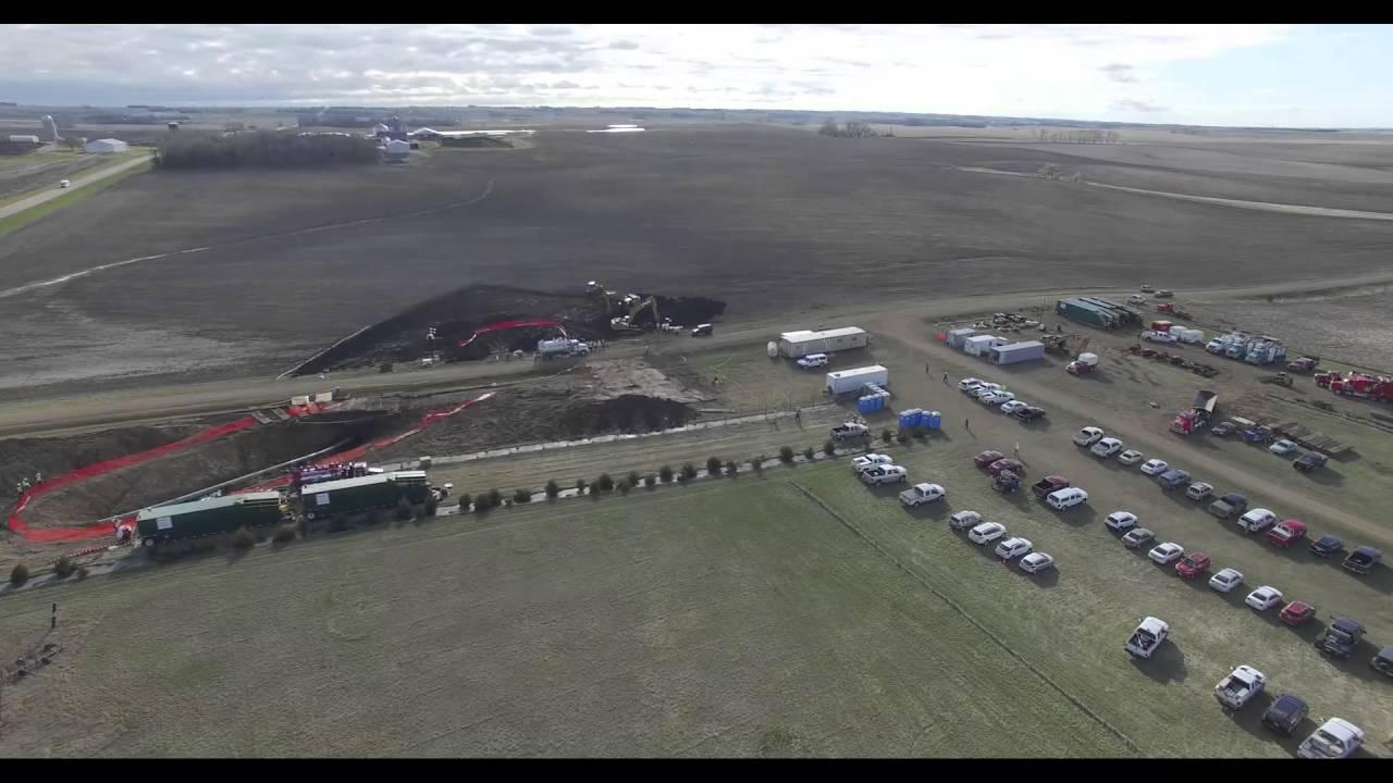 Keystone I Pipeline Spill - YouTube