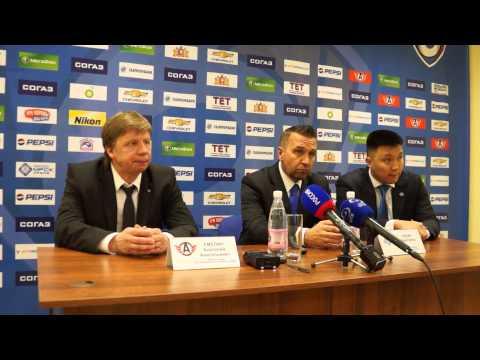 Пресс-конференция после матча плей-офф Автомобилист-Барыс 1-2