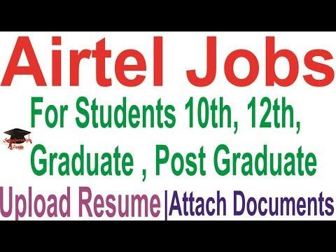 Airtel Recruitment 2018-19  Airtel.in Latest Jobs Registration Form