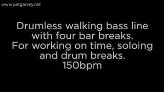 Drumless Walking Bass Line: 150bpm