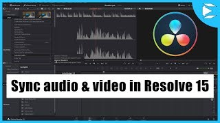 Sync Audio and Video in Davinci Resolve 15