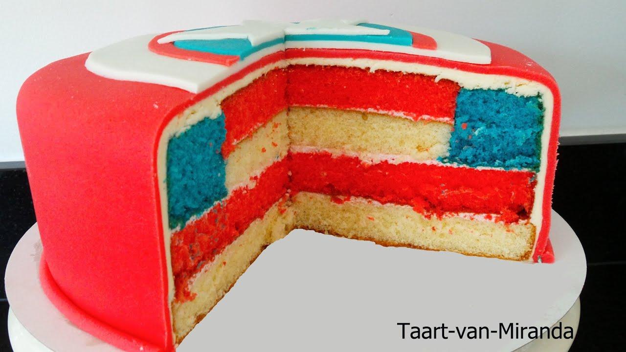 Cake Designs Usa : Captain America cake American Flag - YouTube